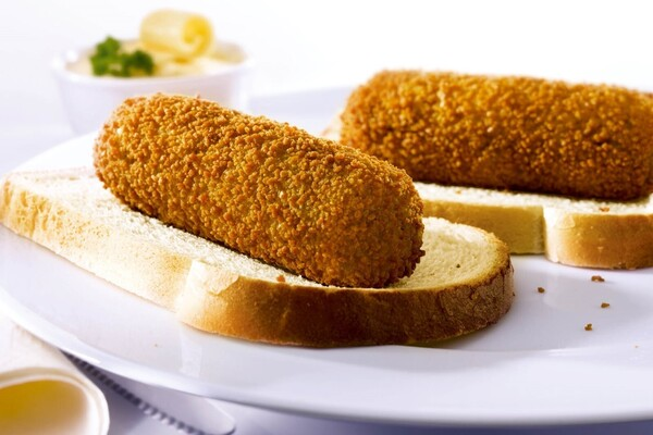 2 kalfvlees croquetten met brood